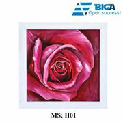 Tranh Sơn Dầu Decor Việt Sắc hoa rực rỡ (Size 30x30cm - Tặng khung Gỗ Thái cao cấp) US04602