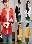 Áo khoác vest nữ dài tay 8 nút phong cách hàn quốc AKA33