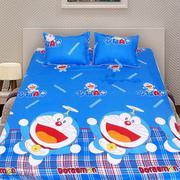 Bộ ga giường cotton Doremon chong chóng 1m6 x 2m x 15cm