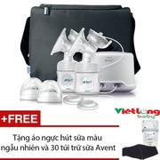 Máy hút sữa điện đôi Philip avent SCF334 (Trắng) + Tặng 1 áo ngực hút sữa và 30 túi trữ sữa Avent