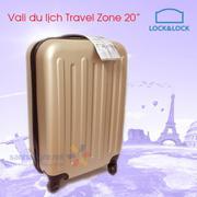 Vali du lịch xách tay có khóa số Lock&Lock Travel Zone LTZ615GDSS 20inch - Gold