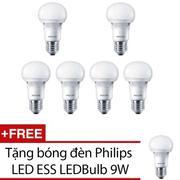 Bộ 6 bóng đèn Philips LED ESS LEDBulb 9W đuôi E27 230V A60 ánh sáng (Vàng) + Tặng 1 bóng đèn Philips...