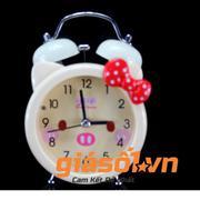 Đồng hồ báo thức để bàn cho bé AY17048 (Vàng nhạt)