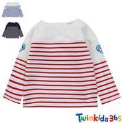 T-shirt trẻ em dài tay kẻ sọc ngang sành điệu twinkids