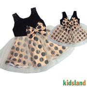 Đầm voan bi bé gái AD173