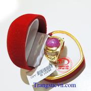 Nhẫn nam ruby sao