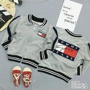 [SIZE ĐẠI] Áo khoác da cá phối bo thêu logo TOMMY dễ thương cho bé trai 9 - 14 Tuổi KTB195452