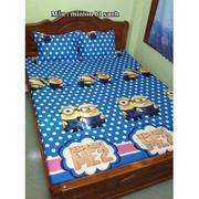 Bộ ga giường cotton minion bi xanh Tmark
