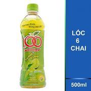 Lốc 6 Chai Trà 100 Trà Xanh Vị Chanh Tribeco 500ml