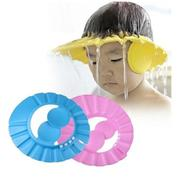 Mũ gội đầu chăn nước có vành tai cho bé (Xanh)