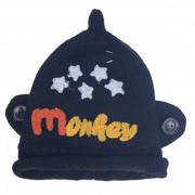 Mũ len chụp tai in chữ Monkey
