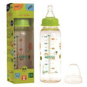 Bình Sữa Nhựa PES Cổ Thường Phụ Kiện Silicon Upass UP02801CL  - Xanh Lá  240ml
