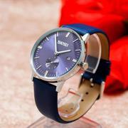 Đồng hồ nam dây da SKMEi (xanh)