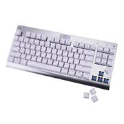 MechanicalEagle Z-77 Multicolor Backlit 87 Keys Mechanical Gaming Keyboard with Blue Switches (White...