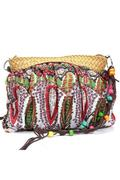 Womens Small Handmade Bohemian Straw Beach Purse Shoulder Bag Multicolor (Intl)