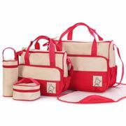 Bộ túi 5 chi tiết cho mẹ và bé (Đỏ)
