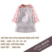 Little Maven-Váy thỏ ghi 5T