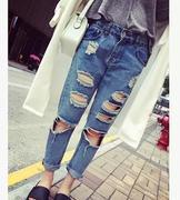 quần jeans boy friend rách lỗ