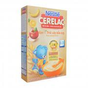 Bột ăn dặm Nestle Cerelac gạo và trái cây hỗn hợp 200g