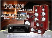 DENON AVR X4000 - MONITOR AUDIO SILVER 10 Series