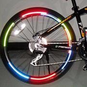 Bộ tem phản quang và đèn hậu 9 LED dành cho xe đạp