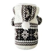 Soft Winter Warm Pet Clothes Cozy Snowflake Dog Teddy Hoodie Coat (Intl)