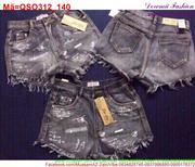 Quần short jean nữ họa tiết hoạt hình đáng iu QSO312 (Q9)