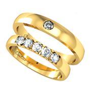 Nhẫn cưới vàng tây NCT006