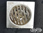 Phễu thoát sàn chống mùi hôi inox Zento TS109 (100x100mm)