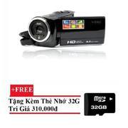 Máy quay phim cầm tay ELITEK HD Digital Video 16X + Tặng kèm thẻ nhớ 32GB(Đen)