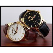 Đồng hồ nam dây da SKMEI dhsk9703 (Đen)