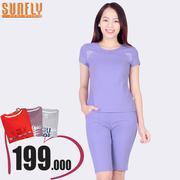 Bộ lửng mặc nhà thời trang Sunfly (Oải hương) SP1331