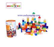Lâu đài màu sắc 100 mảnh Benho