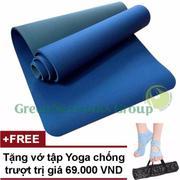 Thảm tập Yoga TPE cao cấp Zera GnG 6mm 2 lớp có túi đựng + Tặng găng tay chống nắng