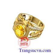 Nhẫn nam sapphire vàng rồng