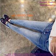 Quần jean nữ lưng cao 1 nút đơn giản sành điệu QD252