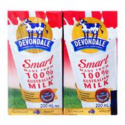 Sữa tươi tiệt trùng Smart Devondale lốc 4 hộp x 200ml