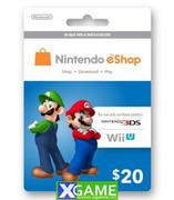 Nintendo eShop Cards $20