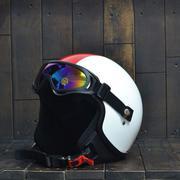 Mũ Bảo Hiểm 3/4 Andes 103D RIDE Trắng Đỏ