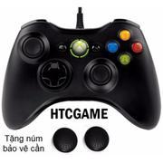 Tay cầm chơi game Microsoft Xbox 360 có dây cho PC Tặng kèm núm bọc cần - Hàng nhập khẩu