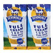 Sữa tươi nguyên chất tiệt trùng Devondale Full Cream 200mlx4