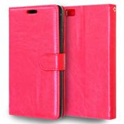 Vococal PU Leather Flip Cover with Stand Function and Card Slots for Huawei P8 Lite 5.0 Inch (Red) (...