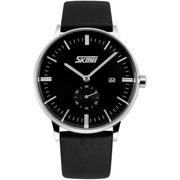 Đồng hồ nam dây da Skmei 9085 (Đen)