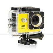 Camera hành động Waterproof Sports Cam Full HD 1080P (Vàng)