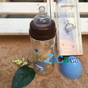 Bình Sữa Kuku Nhựa Ppsu Cổ Rộng 240ml (Xanh Dương Nhạt)