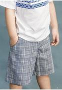 Genii Kids - Quần lửng bé trai sọc caro (2Tuổi-12Tuổi)