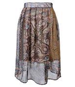 Chân váy voan xòe phối hoa điệu đà SID43312