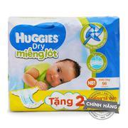 Miếng lót siêu thấm Huggies Dry NB1 (56 miếng)