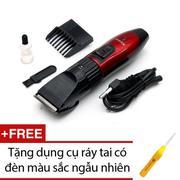 Tông đơ cắt tóc trẻ em Kemei 730 (Đỏ) + Tặng dụng cụ ráy tai có đèn Hàng Cao Cấp