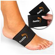 FOOTIU Compression Copper Arch Support Brace - 2 Plantar Fasciitis Sleeves For Pain Relief, Heel Spu...